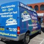 Big Boot van spotted at Pleasureland car park car boot August bank holiday